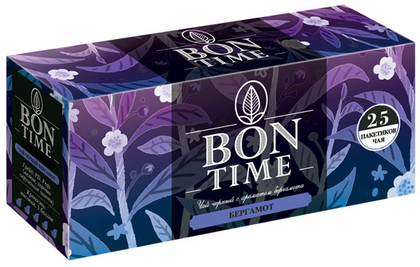 черный чай с ароматом бергамота, 25 пакетиков.